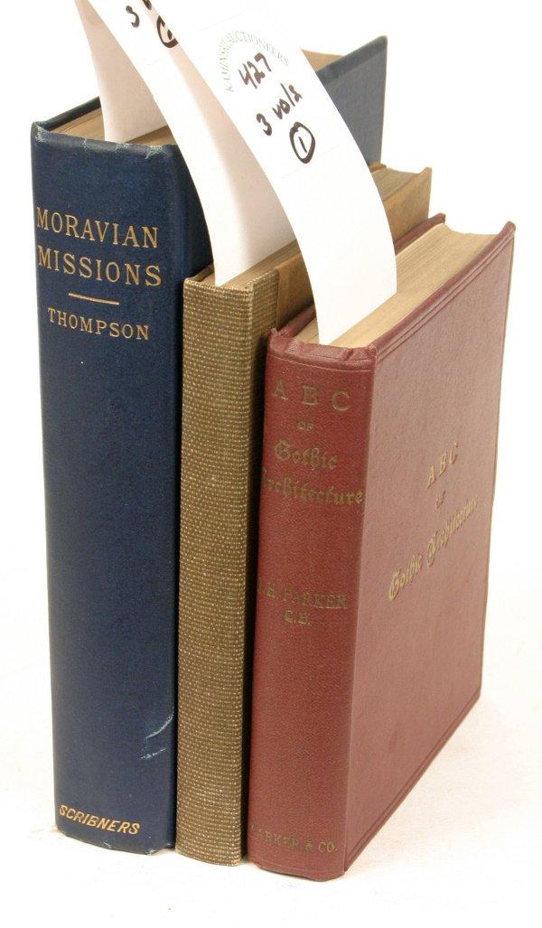 1427: GOTHIC ARCHITECTURE, GERMANTOWN + (3) BOOKS