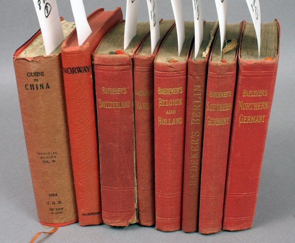 1428: EIGHT FOREIGN TRAVEL GUIDES WITH MAPS 1902-1929