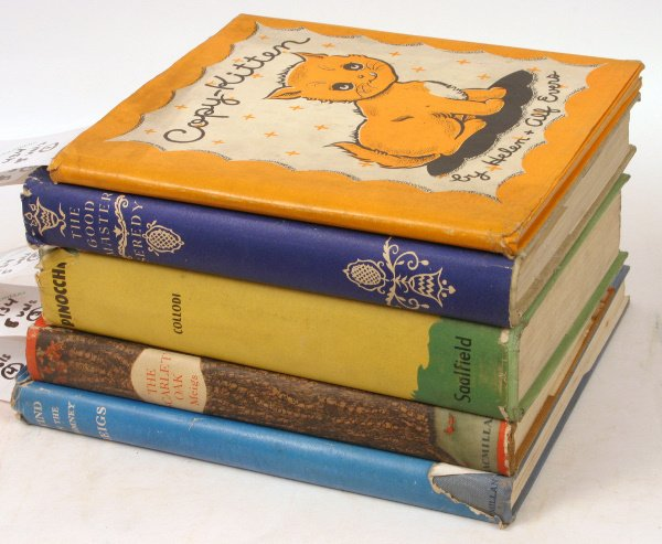 1434: FIVE ILLUS CHILDREN'S BOOKS 1930'S W/JACKETS