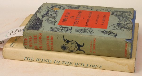 1437: TWO COPIES WIND IN THE WILLOWS, RACKHAM 1933 LTD