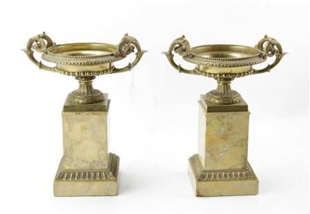 Antique French Bronze Pair of Urns