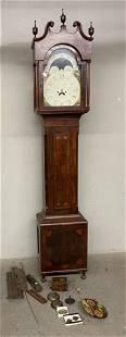 Early Pennsylvania Mahogany Tall Clock