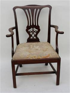 Early English Chippendale Armchair