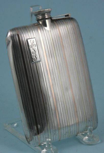 7009: Sterling Silver Flask