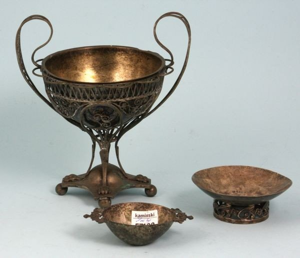 7010: Group of Three (3) Silver Items