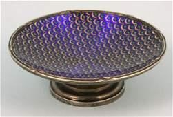 7290A: Enameled Faberge Silver Master Salt Dish