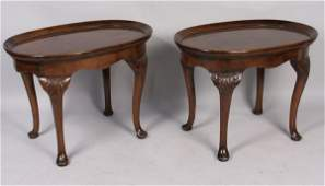 7347: Pair of 20th C. Queen Anne-Style Side Tables