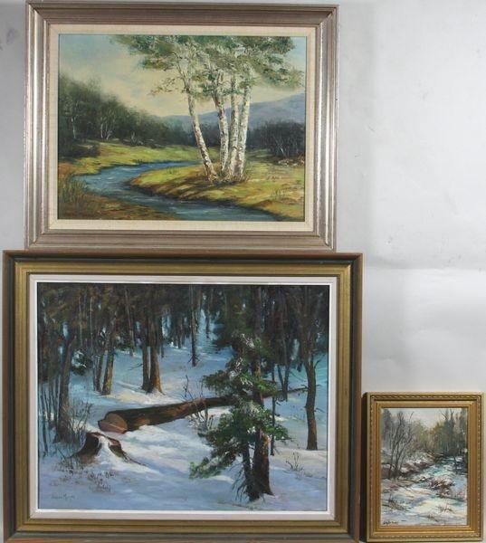 7417: Three (3) Landscapes by Jerush Montez