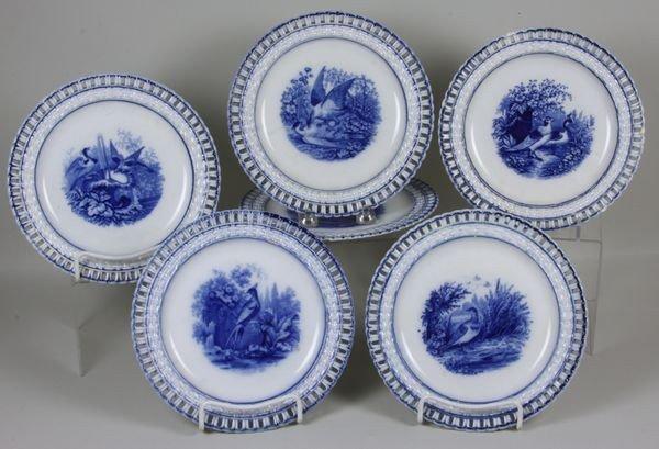 8006: Six (6) 19th Century Transferware Plates