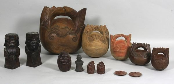 8007: Lot of Thirteen (13) Asian Wooden Items