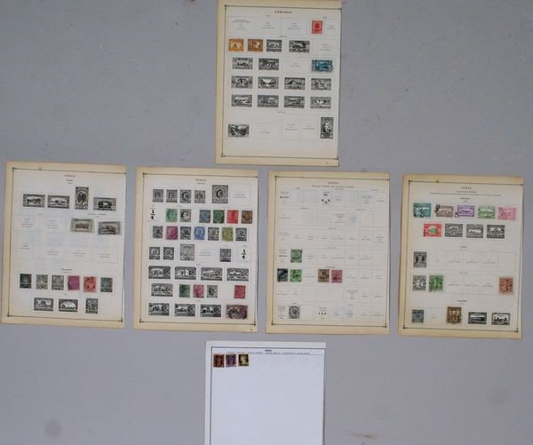8012: Group of Indian and Ledanon Stamps