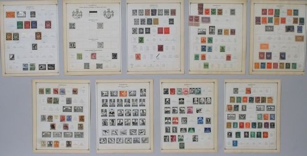 8021: Group of German Stamps