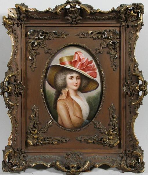 8126: KPM Plaque of a Woman