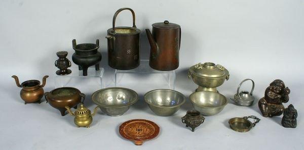 8003: Lot of Bronze Asian Incense Burners
