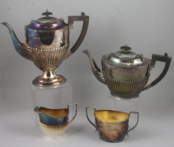 8011: Tea Set Including Teapots, Creamer, and Sugar Bow