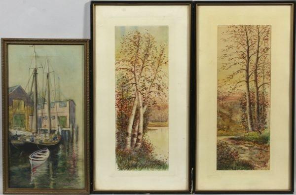 8004: Lot of Three (3) Watercolors