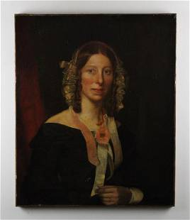 American Portrait of Woman with Bonnet
