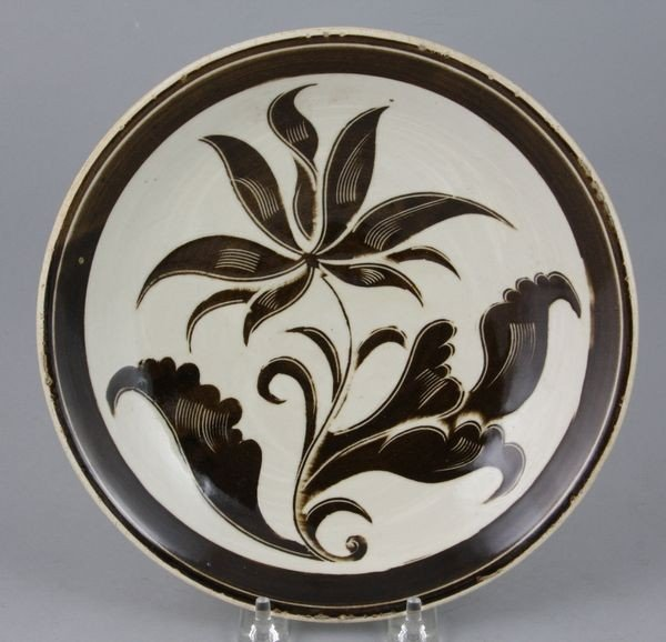 15: Porcelain Plate with Floral Designs