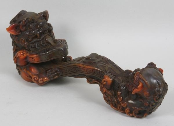 26: Table Artifact with Foo Dog Carvings