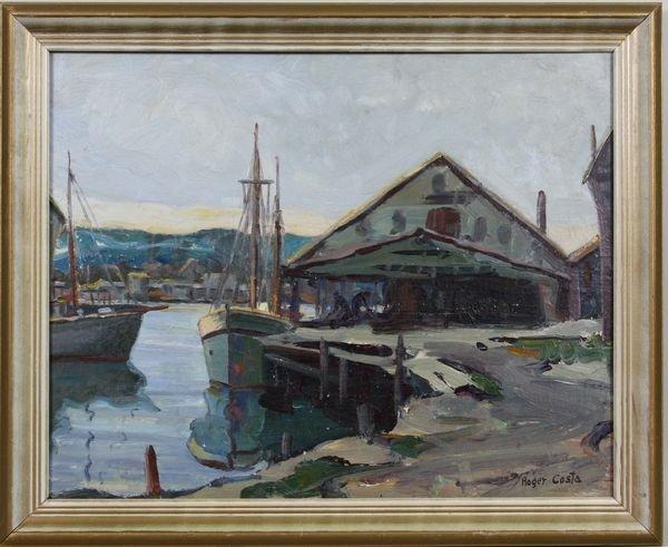 307: Roger Costa, Harbor Scene, O/B