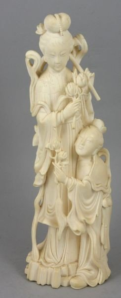 328: 19th C. Chinese Carved Ivory Figure