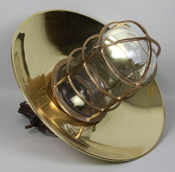 262: Ship's Brass Bulkhead Lamp