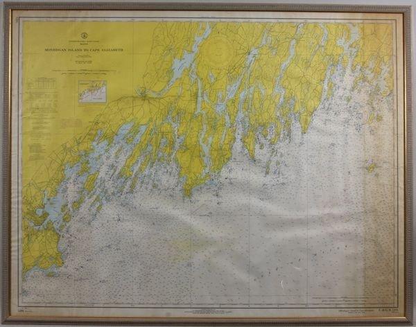 23: Mid 20th Century Nautical Chart