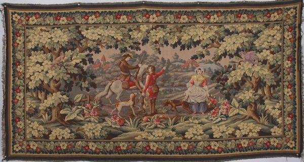 9023: 20th C. Woven Tapestry