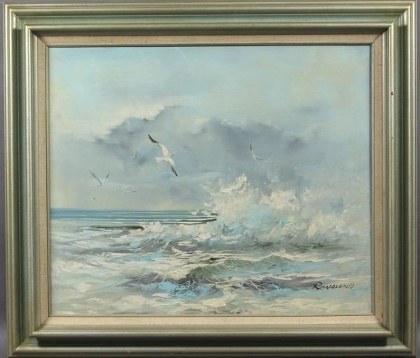 9011: 20th C. O/C of a Seascape