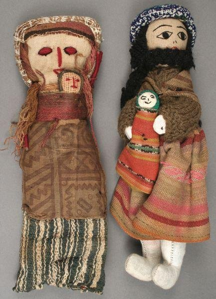 9005: Two Mid 20th C. Hand-made Israeli Dolls