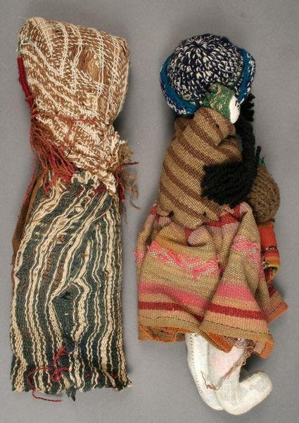 9005: Two Mid 20th C. Hand-made Israeli Dolls - 2