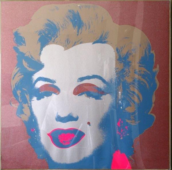 1132:  Andy Warol, Marilyn Monroe, Silkscreen
