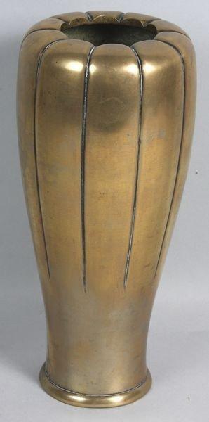 1004: Early 20th C. Brass Art Deco Vase