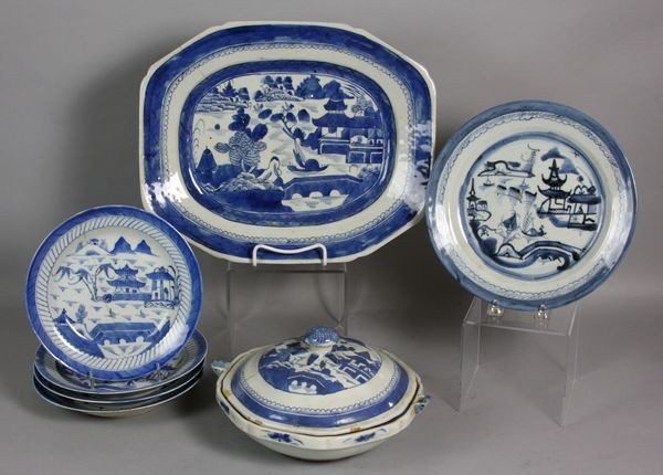 1024: Lot of Seven (7) Pieces of Canton China