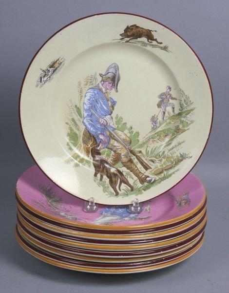 1005: Ten (10) French Porcelain Plates