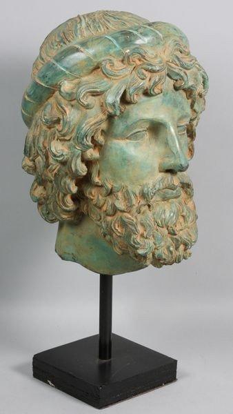 1009: Late 20th C. Bronze Roman Head