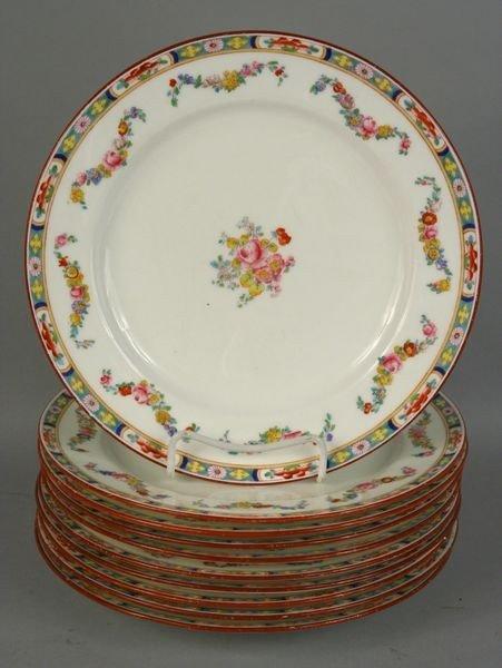 1018: Ten (10) Minton Dinner Plates