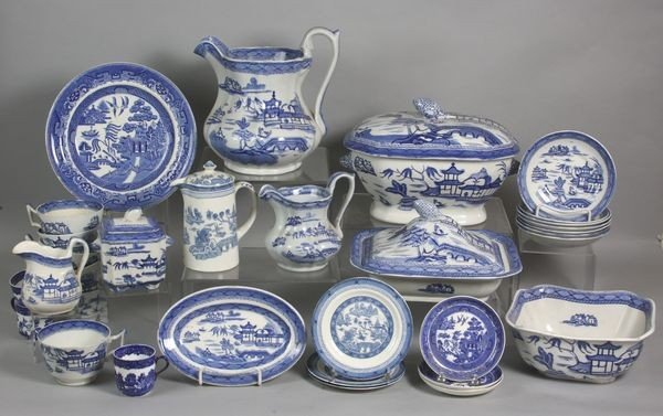 2022: Large Lot of English Blue and White China