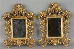 2055: Pair of Florentine Mirrors