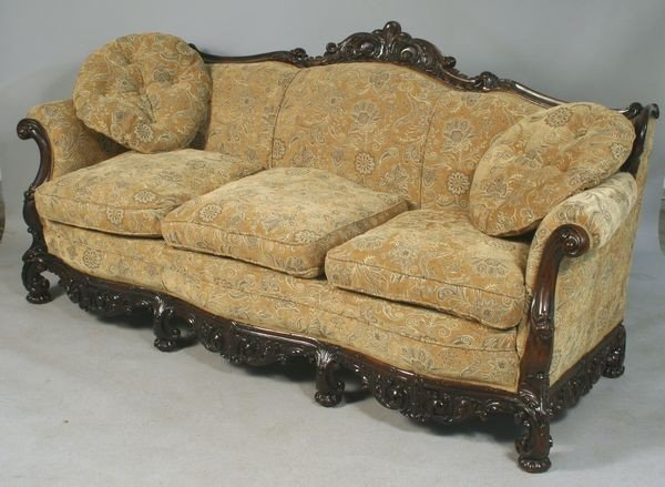 2258: Antique Rococo Sofa