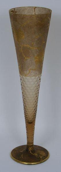 3006: Mt. Joye Gilt Trumpet Vase