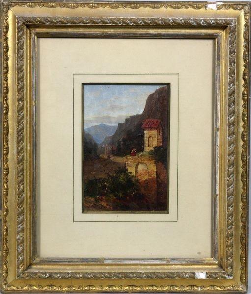 3012: Late 19th/Early 20th Italian Landscape, O/C