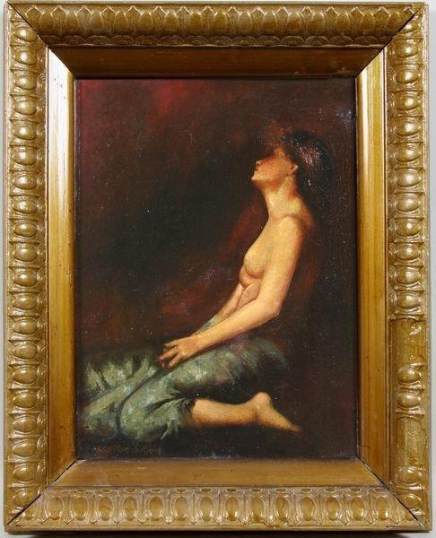 3014: Guy Pene DuBois, Nude Female Portrait, O/C