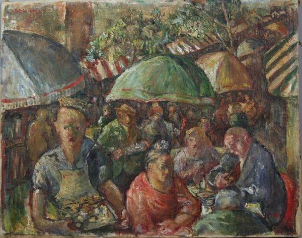 3016: Marie Koehl, Café Scene, O/C