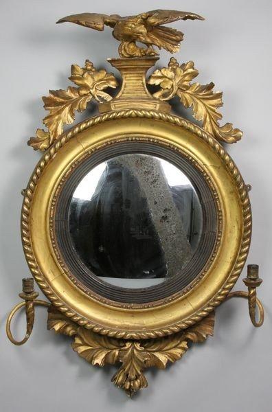 3042: 19th C. Federal Convex Mirror