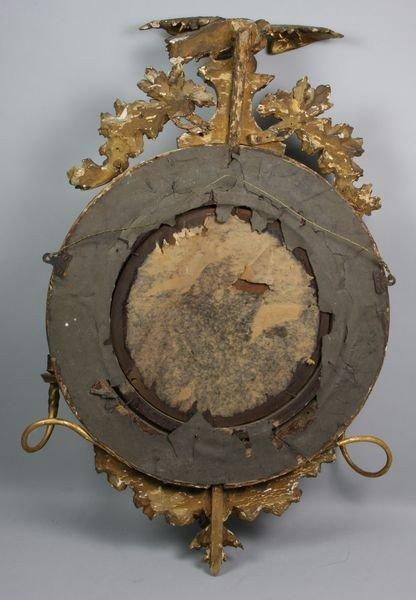 3042: 19th C. Federal Convex Mirror - 3