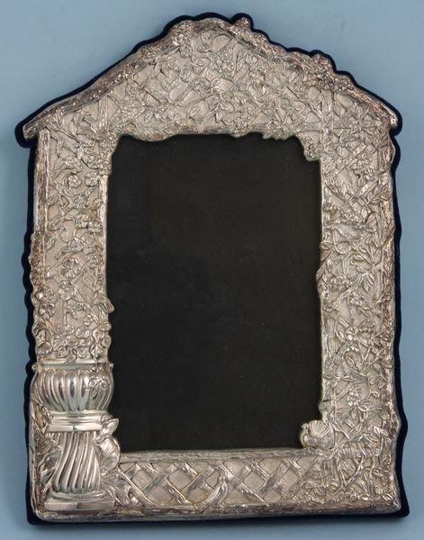 3021: Fancy Sterling Silver Frame
