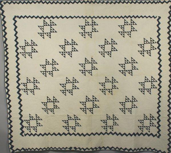 3024: Mid 19th C. Twelve-Point Diamond Quilt