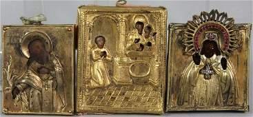 3344: Three (3) 18th/19th C. Russian Icons