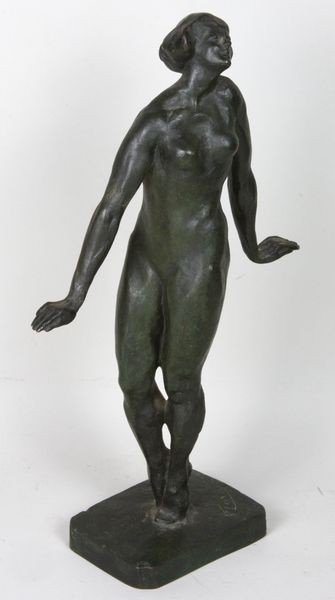 4004: Late 19th/Early 19th C Bronze Nude